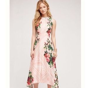 NWT Anthropologie Butterfly Gardening Midi Dress.